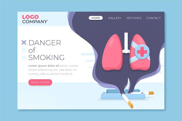 Pericolo di fumo - pagina di destinazione