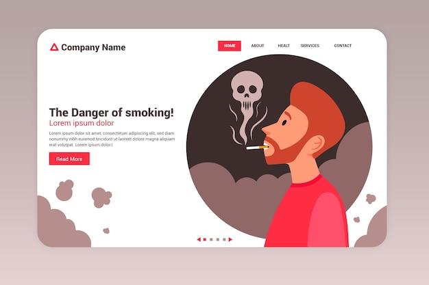Danger of smoking - landing page