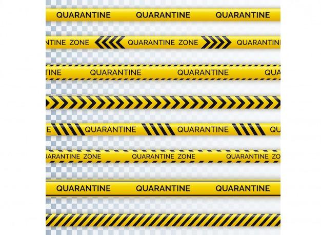 Danger tape quarantine