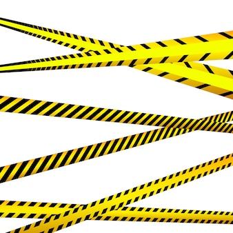위험 테이프. 경고 테이프. 경찰 라인과 교차하지 마십시오. 바리케이드 테이프.