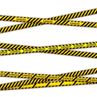 Danger tapes. warning tapes. police line and do not cross. barricade tape.
