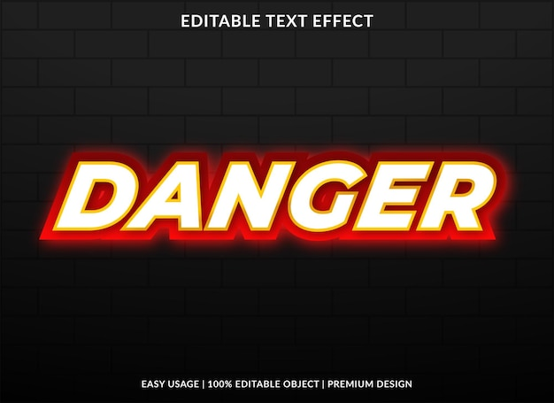 Danger text effect with bold style use for brand headline