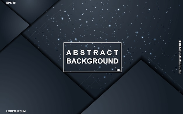 Dark abstract background with black and blue geometric pattern minimal modern.