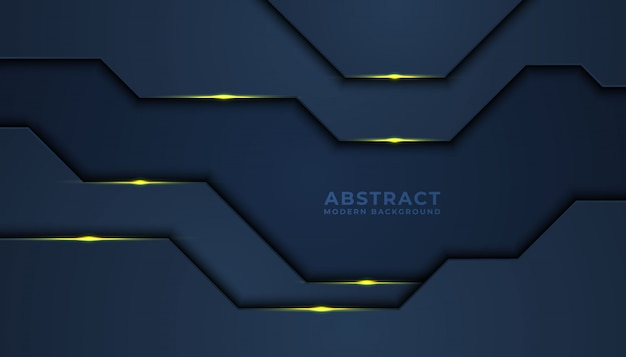 Dark abstract background with black overlap layers. texture with golden effect. luxury design concept.