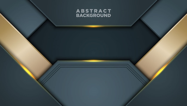 Dark abstract background with black overlap layers