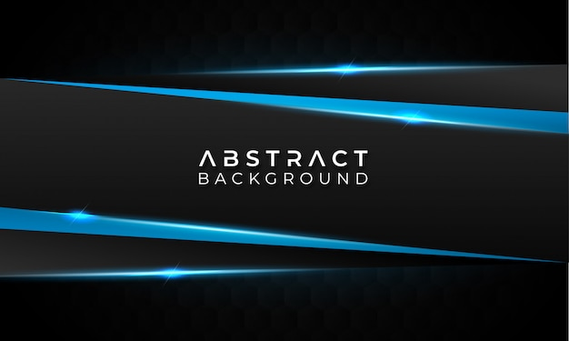 Dark abstract background with blue lines