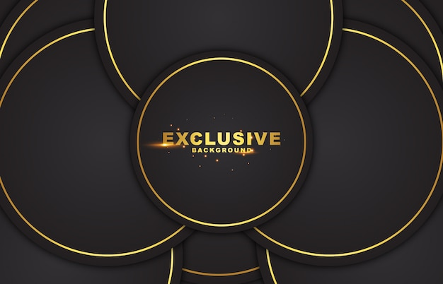 Dark abstract background with circle gold color