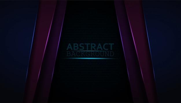 Dark abstract background with colorful overlay layers.