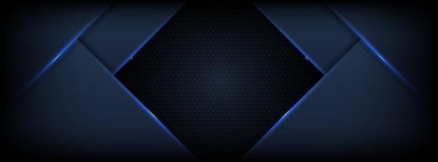 暗い青色のオーバーラップレイヤーと暗い抽象的な背景