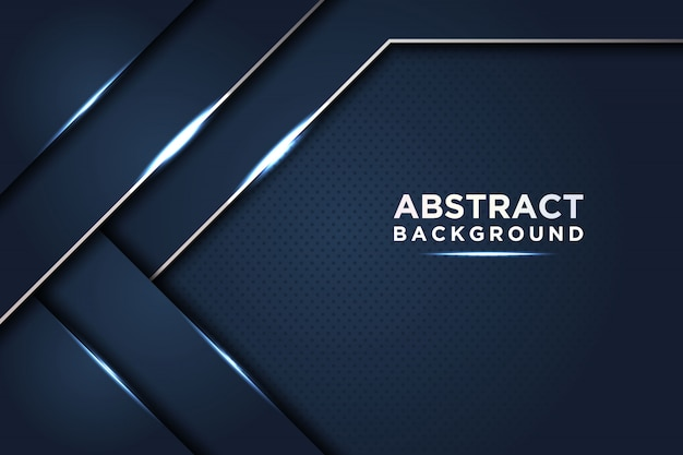 Dark abstract background with dark blue overlap layers