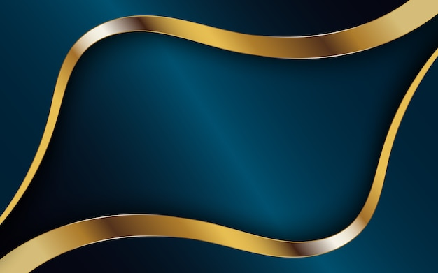 Dark abstract background with golden strip