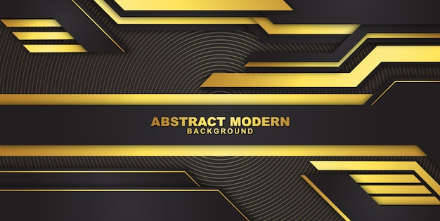 Dark abstract background with luxurious gold color