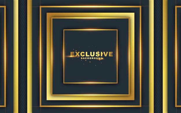 Dark abstract background with luxurious gold