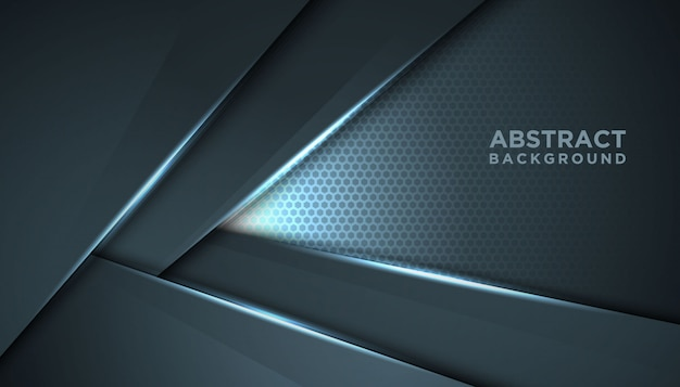 Dark abstract background with overlap layers.luxury design concept.