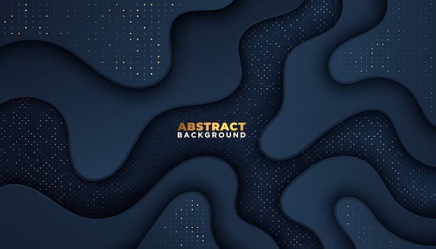 Dark abstract background with overlap layers. luxury design concept