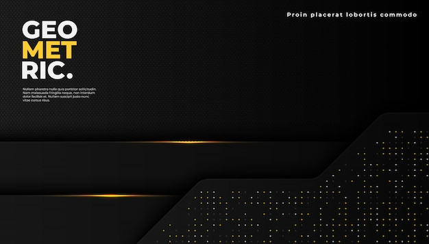 Dark abstract background with overlap layers. luxury