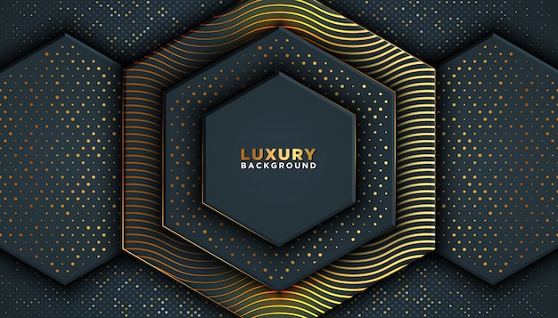 Dark abstract background with overlap layers. luxury  .
