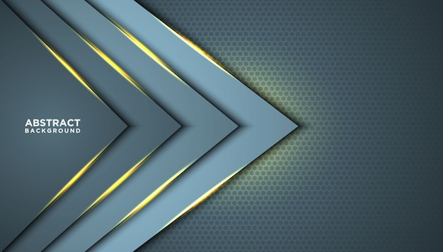 Dark abstract background with overlap layers. texture with golden effect element decoration. luxury design concept.