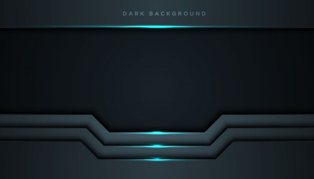 Dark abstract background with overlap layers