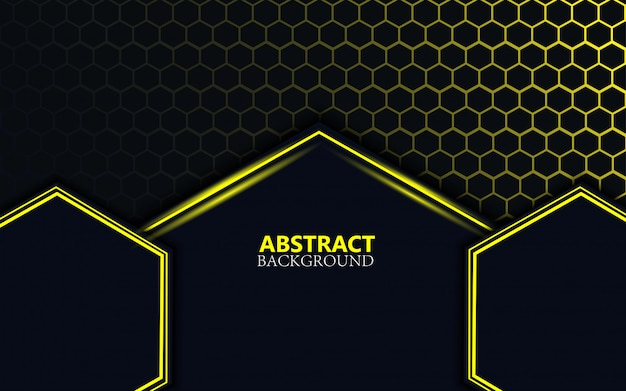 Dark abstract background with shape gradient color
