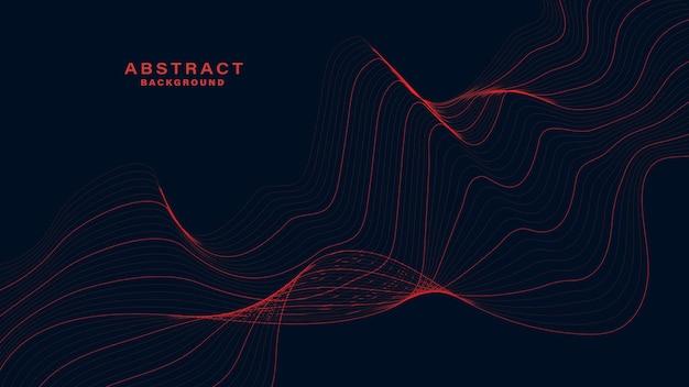 Темный абстрактный фон с волнистыми линиями