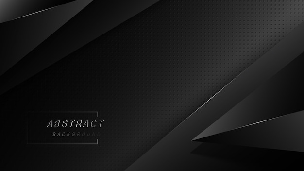 Dark abstract design with black overlap layers background