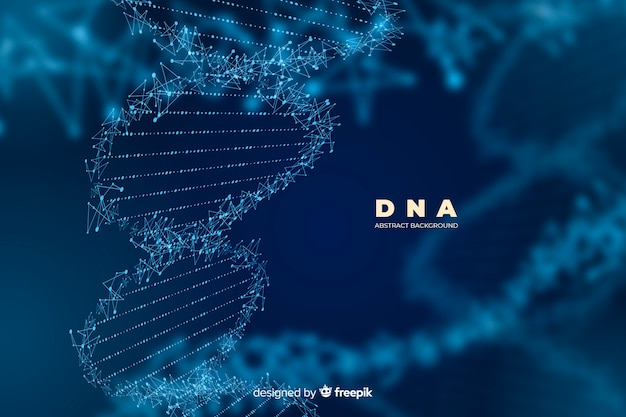 Dark abstract dna structure background