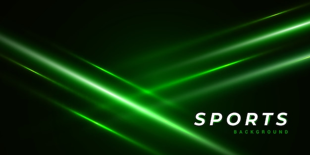Dark abstract green background with light ray