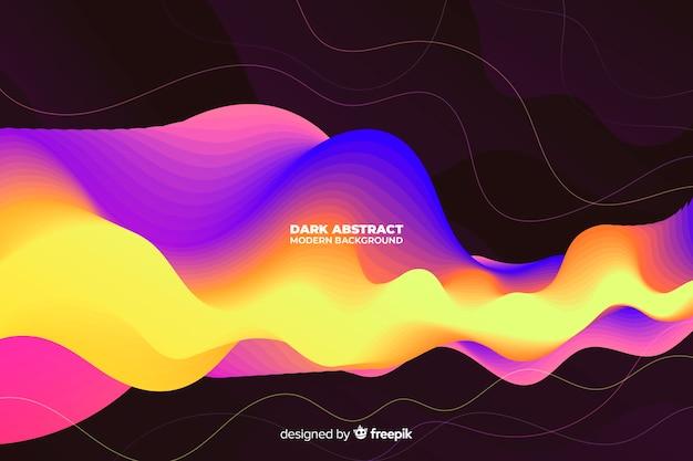 Dark abstract modern background
