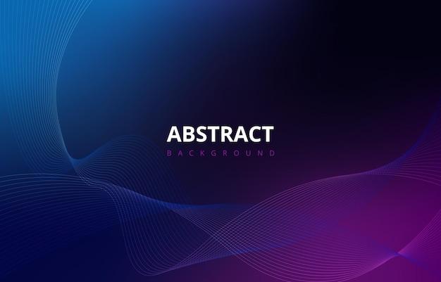Темные абстрактные волны линии градиент текстуры фона обои графический дизайн