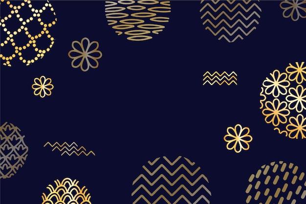 Темно-золотой баннер середины осени