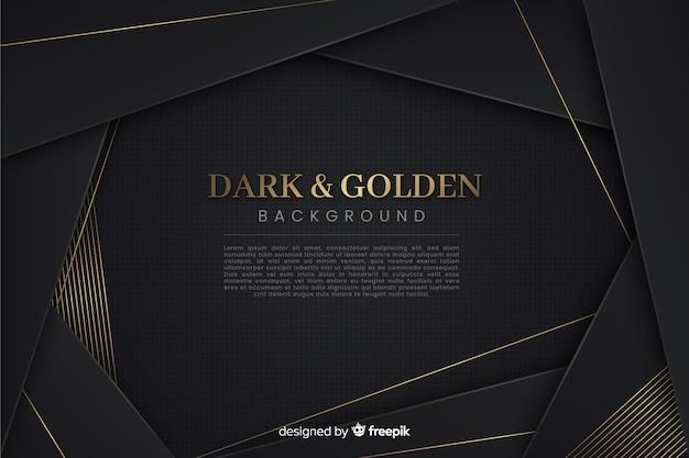 Темно-золотой многоугольный фон