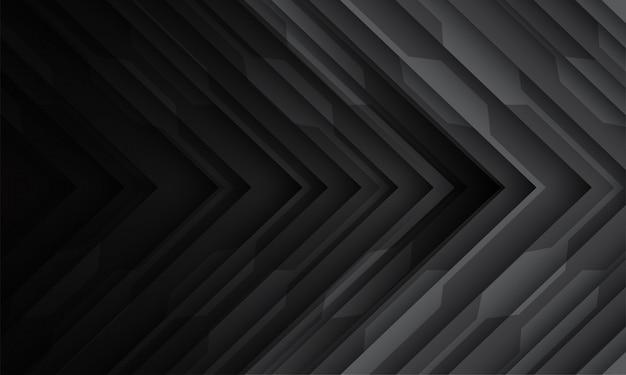 Dark arrow circuit pattern direction modern futuristic technology background.
