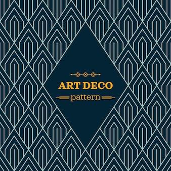 Dark art deco pattern Free Vector