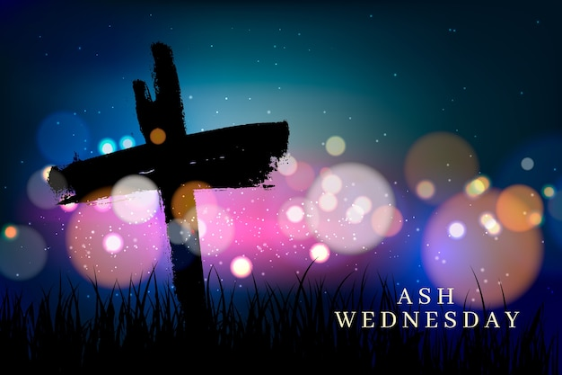 Dark ash wednesday background