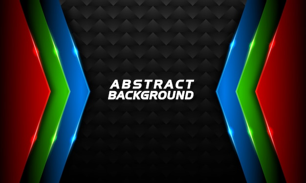 Dark background on abstract  with red  green and blue shapes