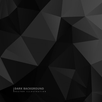 Dark background in low poly style Free Vector