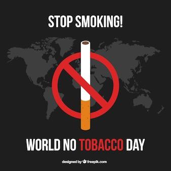 Dark background of no tobacco day