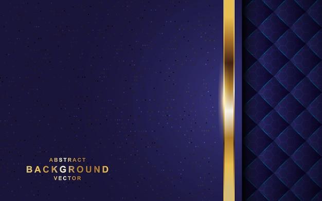 Dark background overlap layers with golden line.