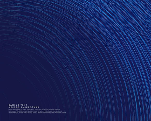 青い曲線の線ベクトルと暗い背景