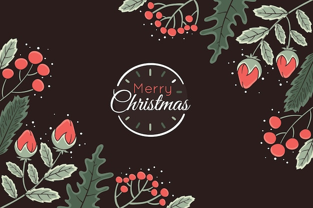 Dark background with christmas elements