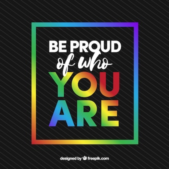 Dark background with colorful frame and inspirational message