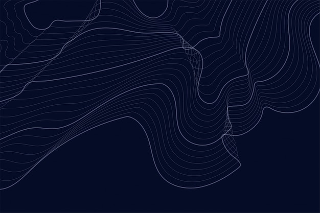 Dark background with contour lines