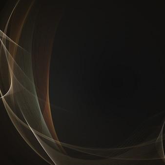 暗い背景に抽象的なエレガントな波のデザイン