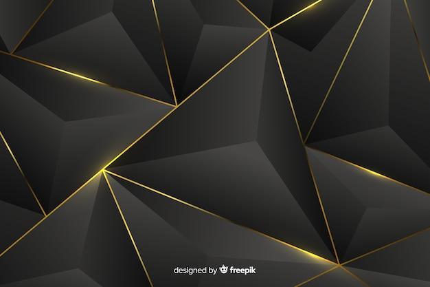 Темный фон с золотыми абстрактными формами