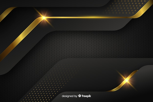 Dark background with golden abstract shapes