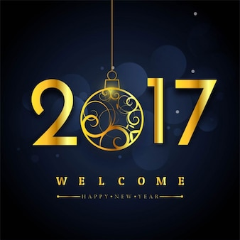 Dark background with golden numbers for new year