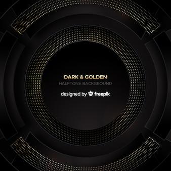 Dark background with golden sparks