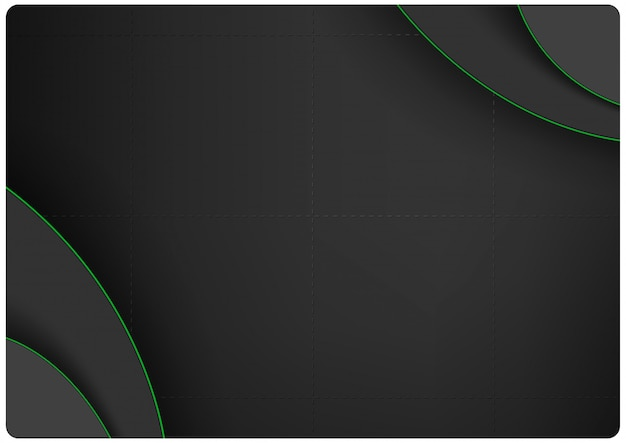 Dark background with layers and green edges