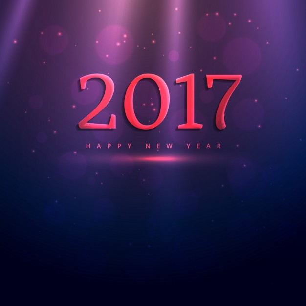 Dark background with lights for new year